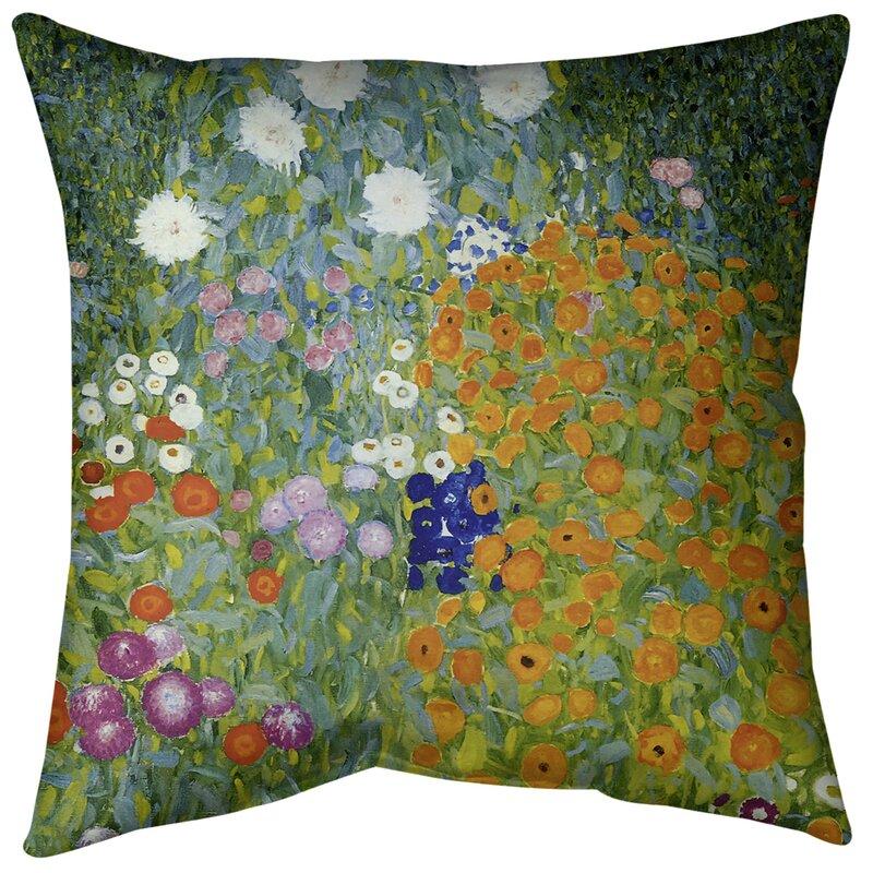 East Urban Home Blumengarten Throw Pillow Wayfair