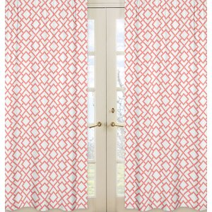 Mod Diamond Geometric Sheer Rod pocket Curtain Panels (Set of 2)