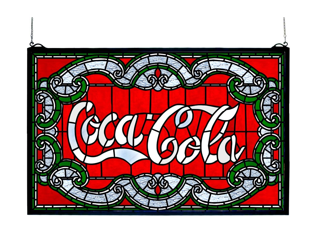 Meyda tiffany victorian coca cola stained glass window reviews victorian coca cola stained glass window amipublicfo Image collections