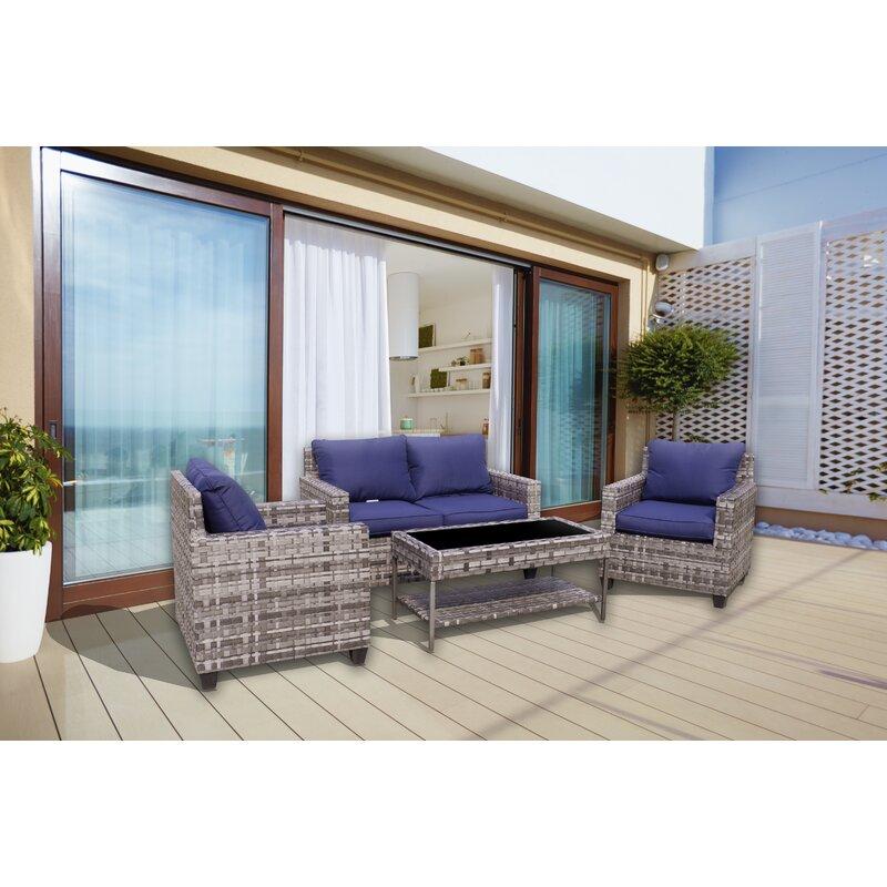 Breakwater Bay Chi 4 Piece Sofa Seating Group With Cushions Wayfair