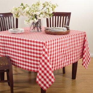 Saro Gingham Design Tablecloth