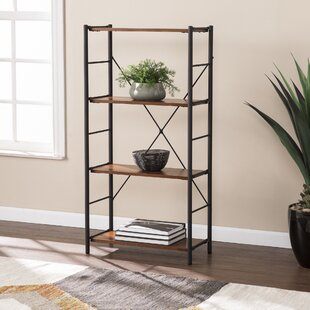 Lundy Two-Tone Etagere Bookcase