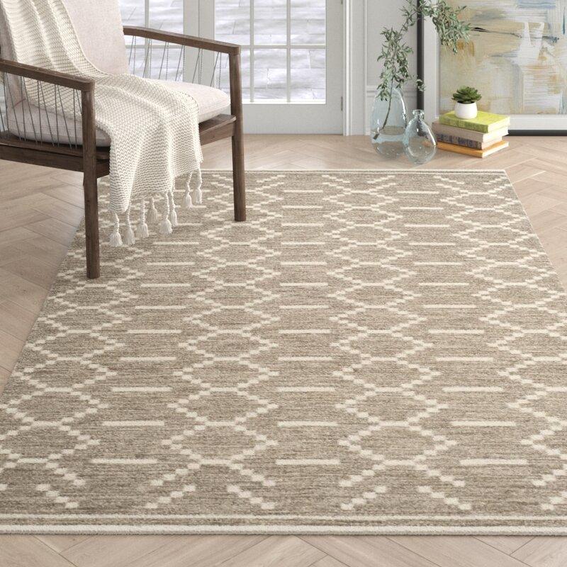 Witton Geometric Handmade Flatweave Wool Gray Ivory Area Rug Reviews Joss Main