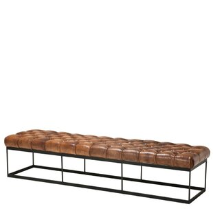 York Faux Leather Bench By Eichholtz