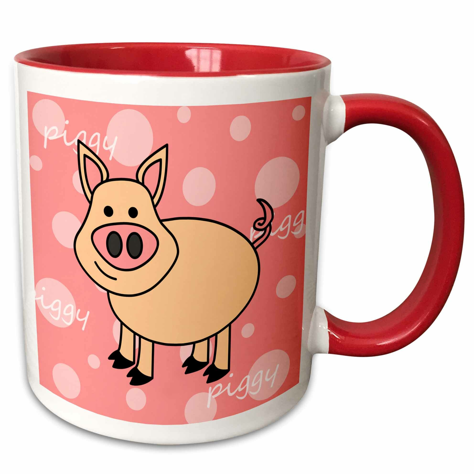 East Urban Home Happy Pig Coffee Mug Wayfair
