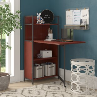 Cogdill Rectangular Floating Desk with Hutch