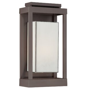 Reviews Wilcoxon 1-Light Outdoor Flush Mount in Western Bronze By Three Posts