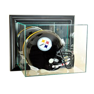 Wall Mounted Football Helmet Display Case By Perfect Cases and Frames