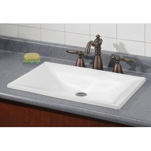 Online Reviews Estoril Vitreous China Rectangular Drop-In Bathroom Sink ByCheviot Products