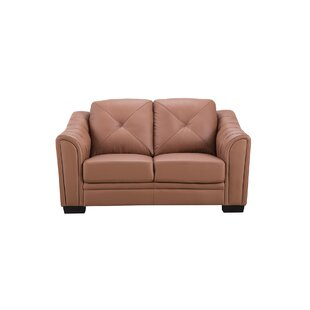 Vicknair Leather Loveseat by L..