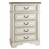 Aubriana Wooden 5 Drawer Chest by Ophelia & Co.