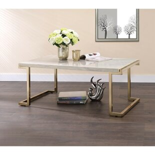 Troche Marble Top Coffee Table by Mercer41