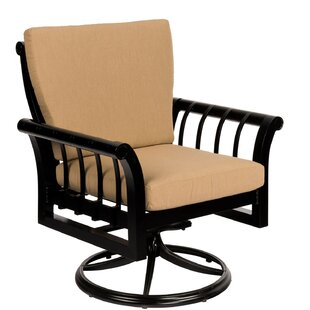 Rhyss Swivel Rocking Patio Dining Chair by Woodard