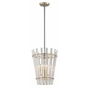 Sauterne 4-Ligh Geometric Chandelier by Corbett Lighting