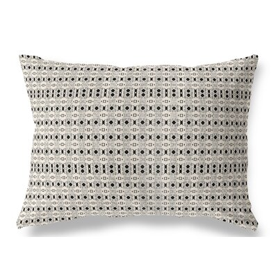 "Union Rustic Liberty Hill Indoor/Outdoor Lumbar Pillow Colour: Black/Tan, Size: 12"" x 16"""