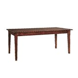 Hand Planed Mahogany Solid Wood Dining Table by Furniture Classics