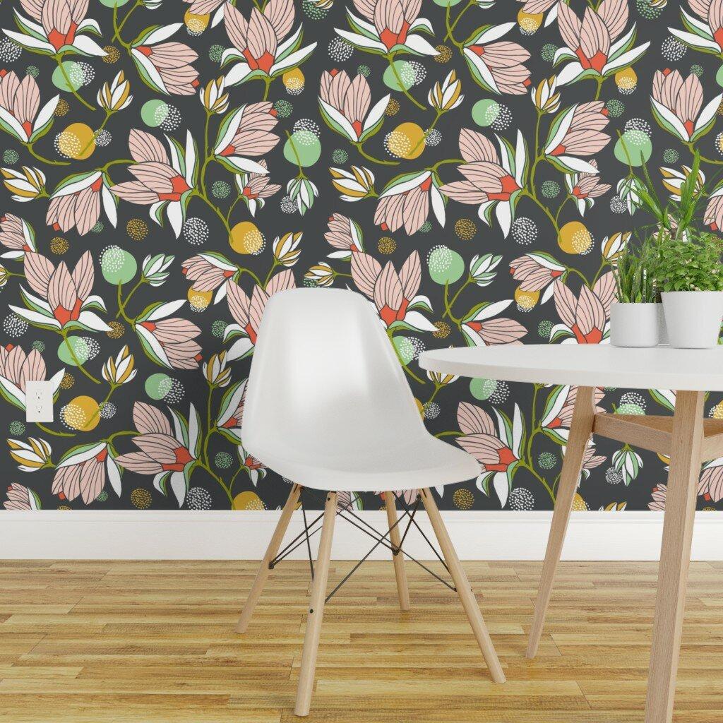 Bungalow Rose Zeno Floral Removable Wallpaper Panel Wayfair