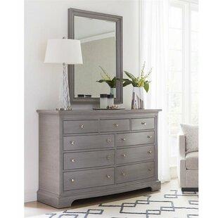 Stanley Furniture Transitional 9 Drawer Dresser with Mirror