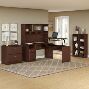 Hillsdale 5 Piece L-Shaped Desk Office Set