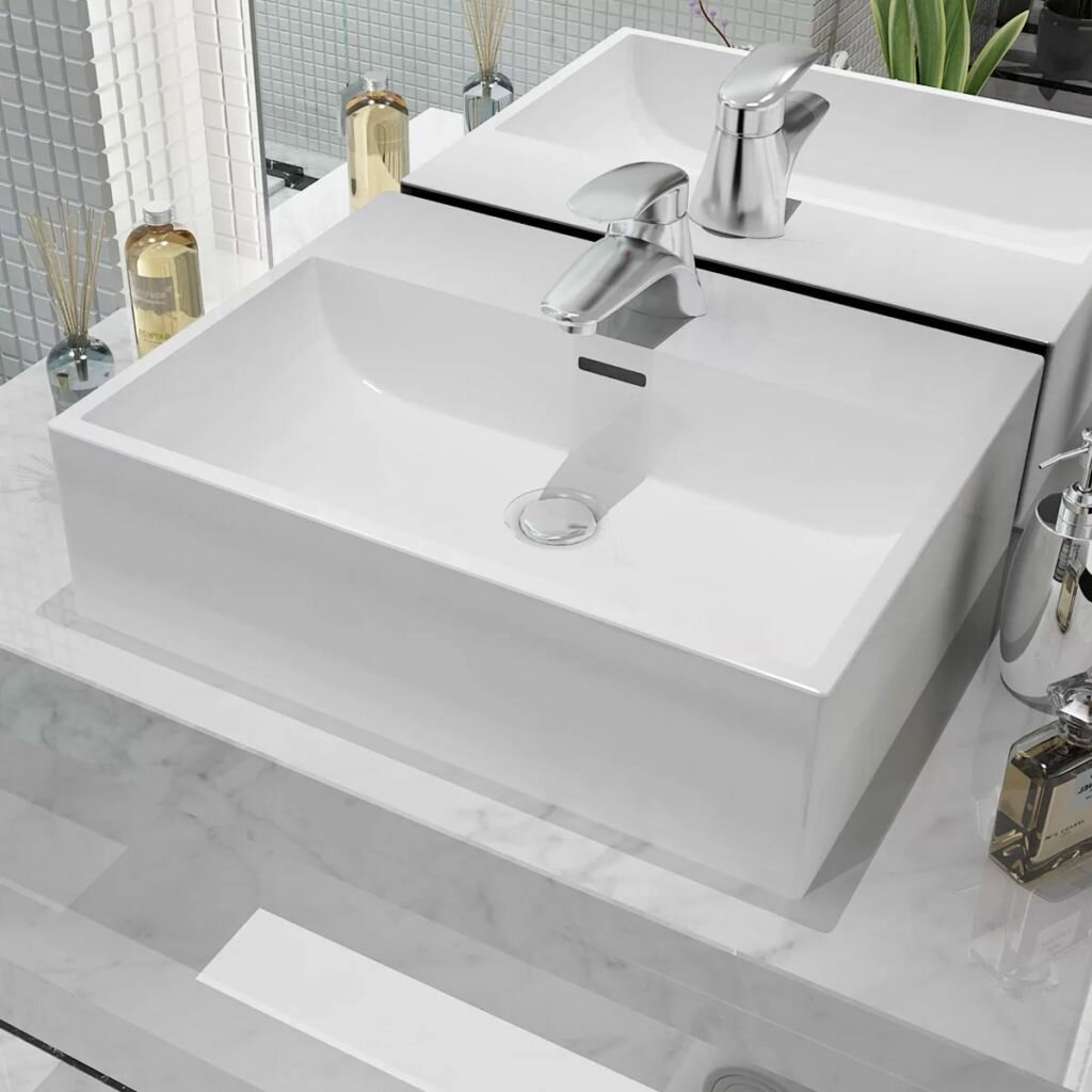Awesome Richelle Ceramic Rectangular 515 Mm Countertop Basin Download Free Architecture Designs Viewormadebymaigaardcom