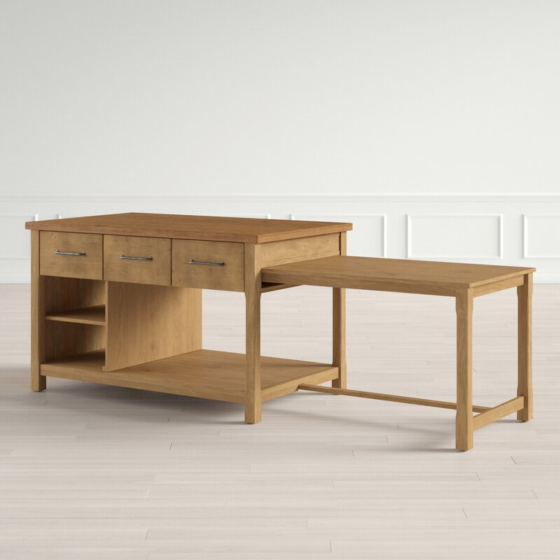 Evelyn Kitchen Island Solid Wood Reviews Joss Main