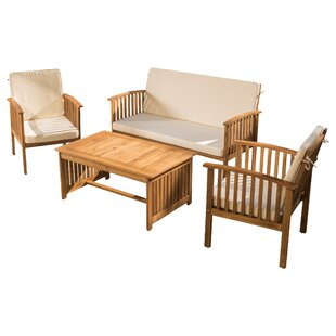 Safira 4 Piece Sofa Seating Group with Cushions