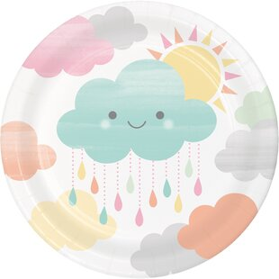 Clouds Paper Appetizer Plate (Set of 24)