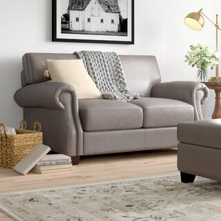 Whipton Leather Loveseat by Three Posts SKU:CC577126 Guide