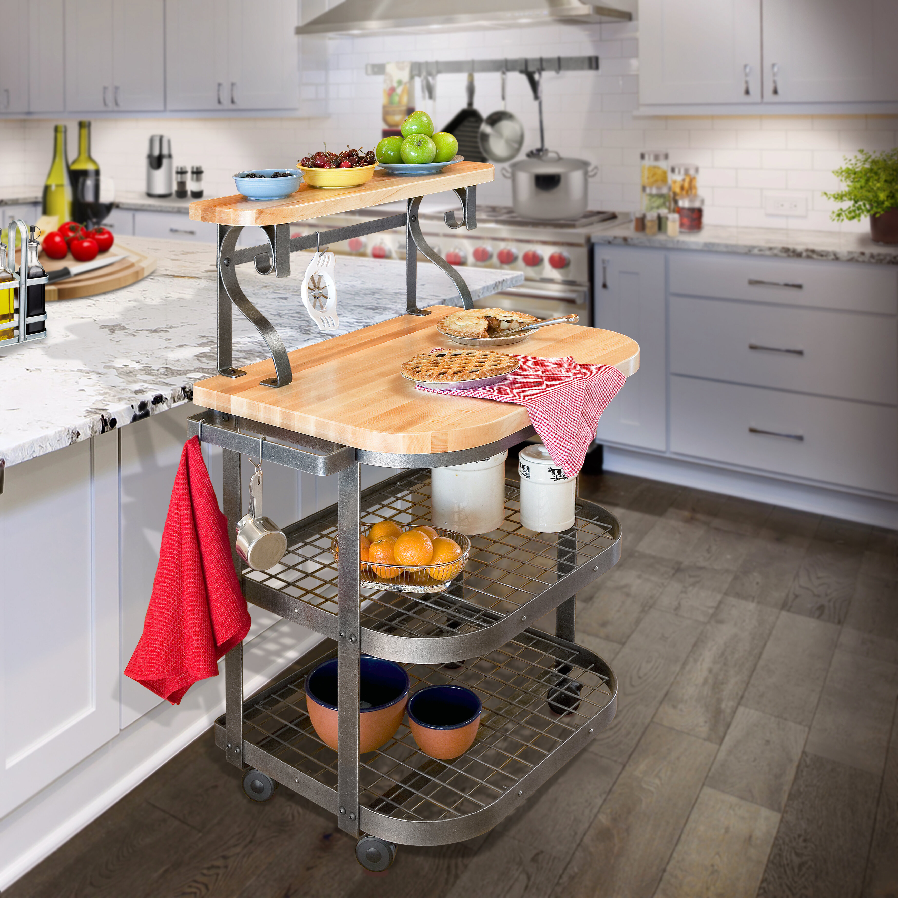 Enclume Premier Kitchen Cart with Butcher Block Top   Wayfair