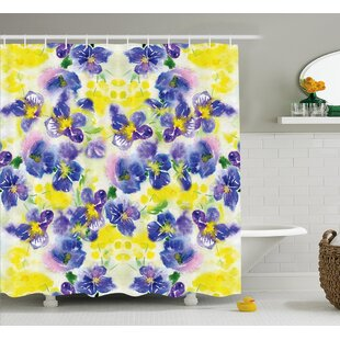 Menyauthe Butterfly Flower House Decor Single Shower Curtain