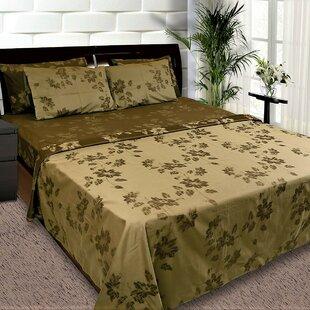 Beem 400 Thread Count Floral/Flower 100% Cotton Sheet Set