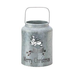 The Holiday Aisle Reindeer LED Galvanized Metal Lantern