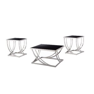 Lucio Arch Curved 3 Piece Coffee Table Set by Wade Logan