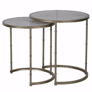 Inexpensive Bernadette 2 Piece Nesting Tables ByBungalow Rose