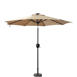 Hettie Solar Lighted 9' Market Umbrella