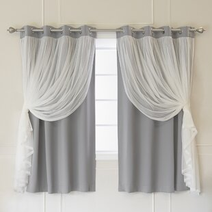 Brockham Thermal Grommet Curtain Panels Set Of 2