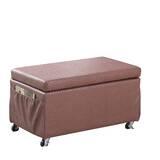 Cian Basketweave Faux Leather Storage Bench