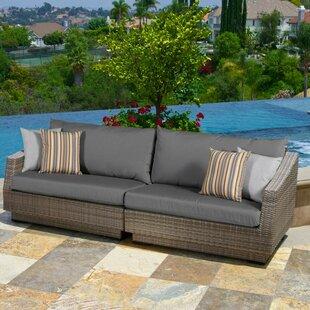 Wade Logan Castelli Sofa with Sunbrella Cushions