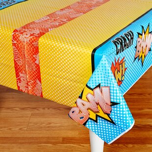 Superhero Comics Plastic Disposable Tablecover