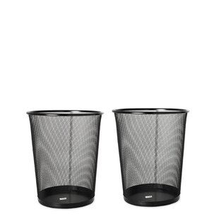 YBM Home Steel Waste Basket (Set of 2)