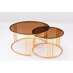 Everly Quinn Mashpee 2 Piece Coffee Table Set