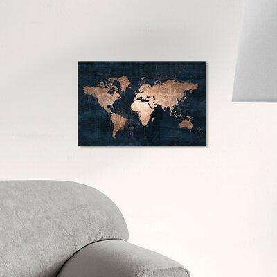Blue Map Wall Art You Ll Love In 2019 Wayfair