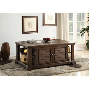 Angelica Coffee Table with Storage Loon Peak