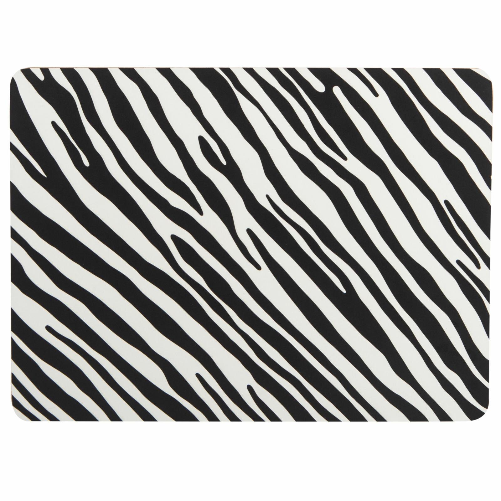 Summerhouse Madagascar Placemats Zebra Stripe Set Of 4 Wayfair Co Uk