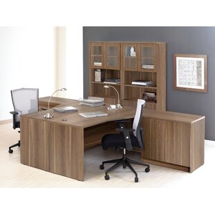 Haaken Furniture Pro X 6 Piece L-shaped Desk Office Suite