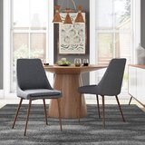 Bibler Upholstered Upholstered Solid Back Side Chair (Set of 2) by Wrought Studio™