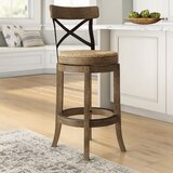 Jacklyn Swivel Bar & Counter Stool by August Grove®
