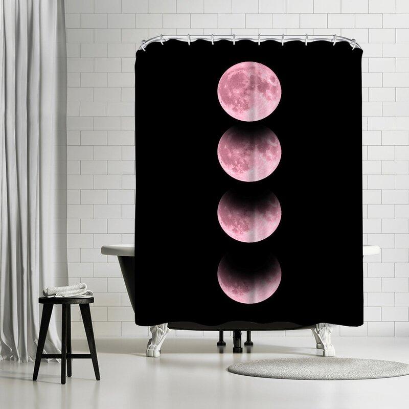 East Urban Home Emanuela Carratoni Pink Moon Single Shower Curtain Wayfair