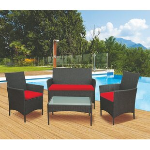 4 Seater Rattan Sofa Set By Galileo