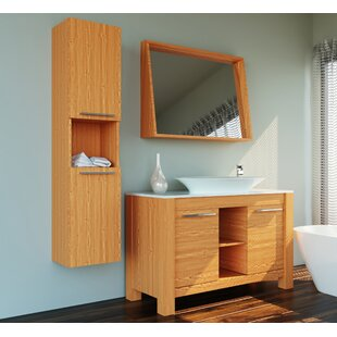 Bargain Nico 47 Single Bathroom Vanity Set with Mirror By Orren Ellis